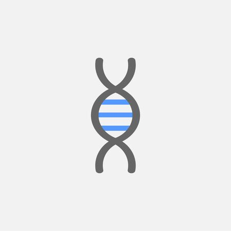 DNA flat icon vector isolated on white background Zdjęcie Seryjne - 128881736