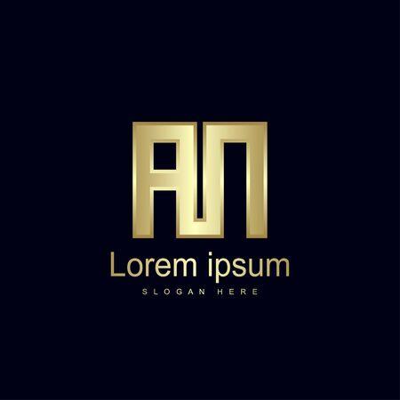 Initial Letter AN Logo Template Vector Design