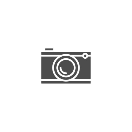 Camera flat icon vector isolated on white background
