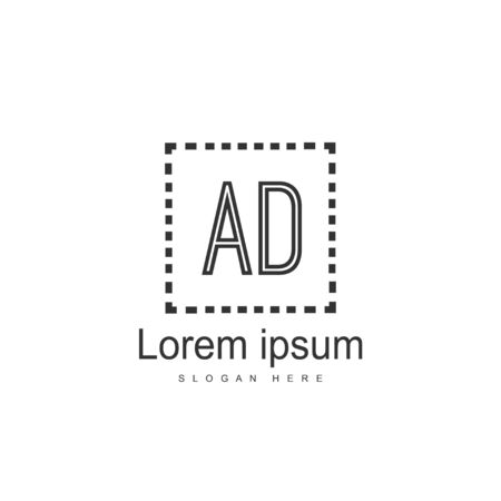 Initial Letter AD Logo Template Vector Design