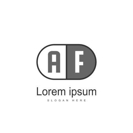 Initial Letter AF Logo Template Vector Design Ilustração