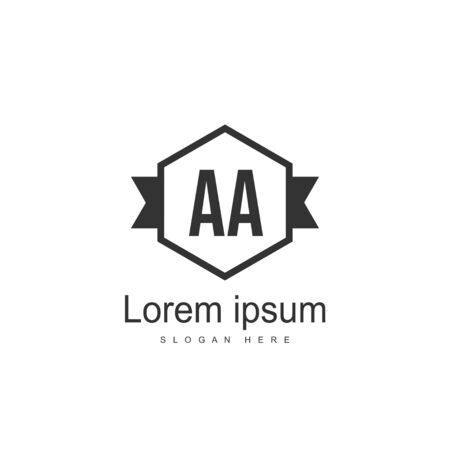 Initial Letter AA Logo Template Vector Design Ilustração