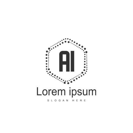 Initial Letter AI Logo Template Vector Design