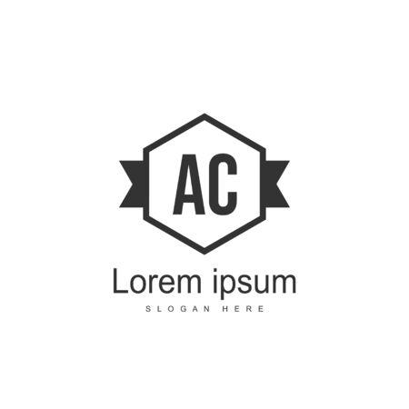 Initial Letter AC Logo Template Vector Design