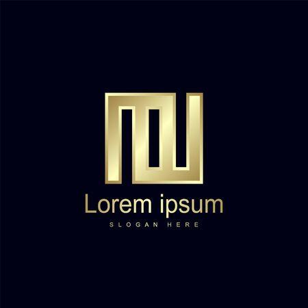 Initial Letter MW Logo Template Vector Design Logo