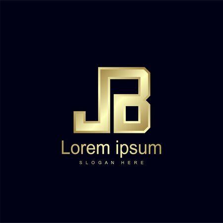 Initial Letter JB Logo Template Vector Design