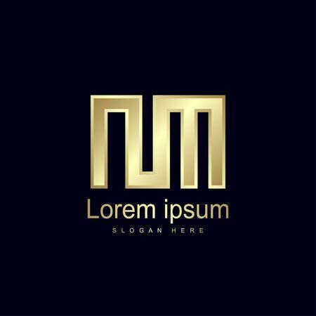 Initial Letter NM Logo Template Vector Design