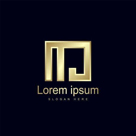 Initial Letter MJ Logo Template Vector Design