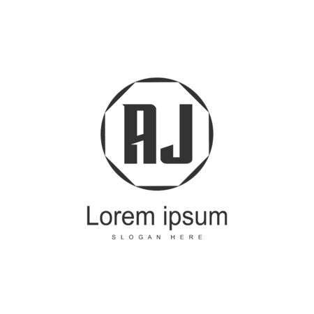 Initial Letter AJ Logo Template Vector Design