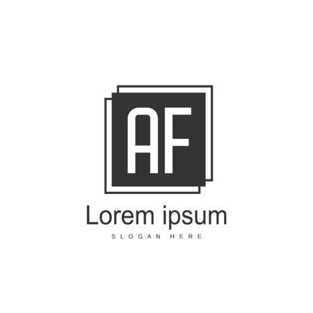 Initial Letter AF Logo Template Vector Design Stock Illustratie