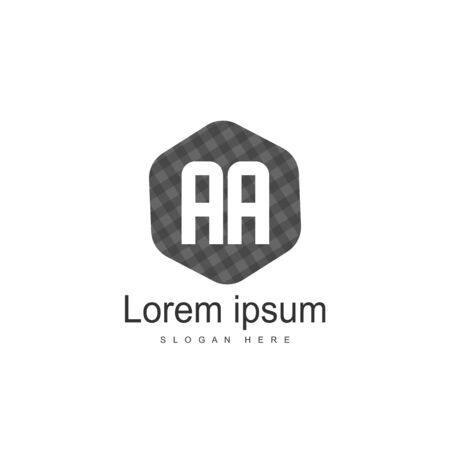 Initial Letter AA Logo Template Vector Design Stock Illustratie
