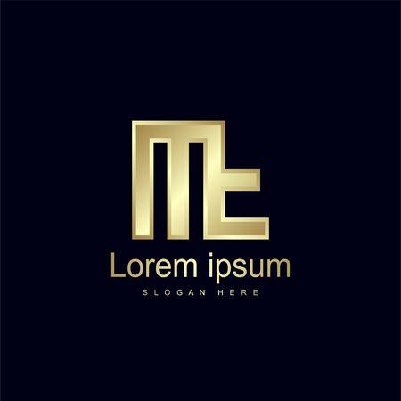 Initial Letter MF Logo Template Vector Design Stock Illustratie