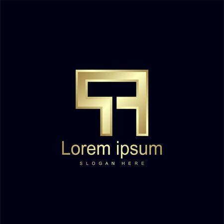 Initial Letter PF Logo Template Vector Design