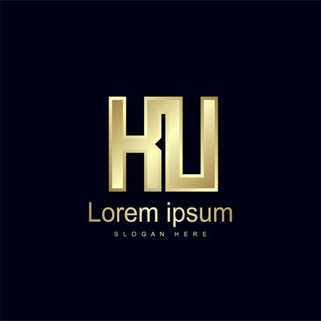Initial Letter KU Logo Template Vector Design Stock Illustratie