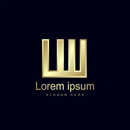 Initial Letter LW Logo Template Vector Design