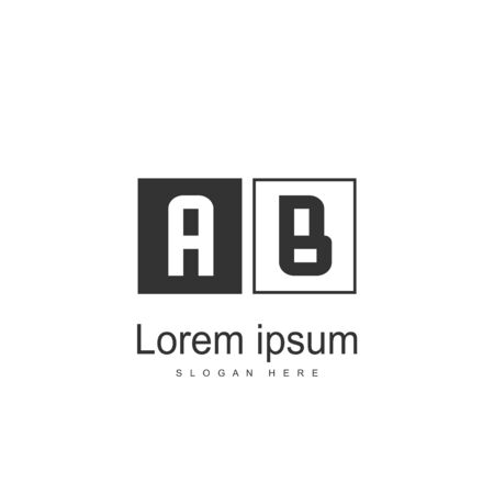 Initial Letter AB Logo Template Vector Design