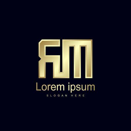 Initial Letter RM Logo Template Vector Design