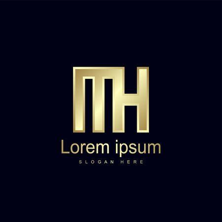 Initial Letter MH Logo Template Vector Design
