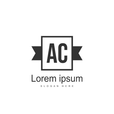 Initial Letter AC Logo Template Vector Design