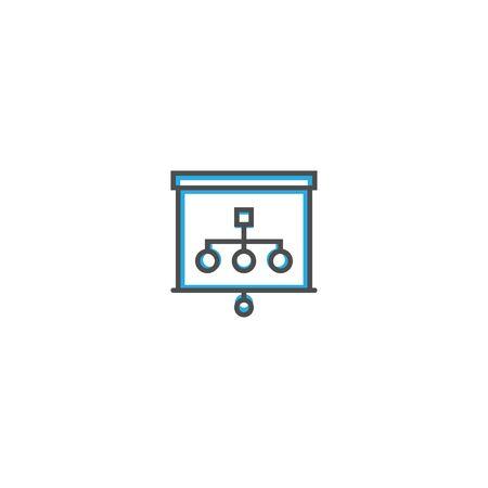presentation icon line design. Business icon vector illustration design