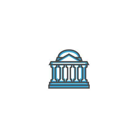 bank icon line design. Business icon vector illustration design