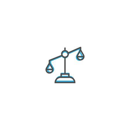 justice scale icon line design. Business icon vector illustration design Illustration