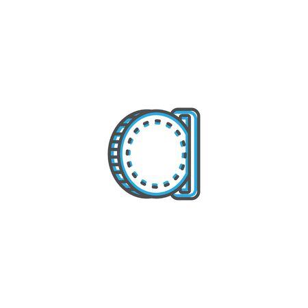 insert coin icon line design. Business icon vector illustration design