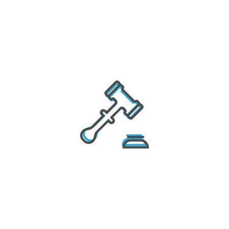 justice scale icon line design. Business icon vector illustration design Stock Illustratie