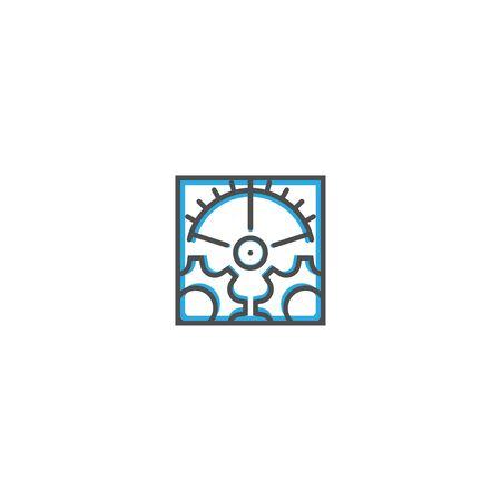 Settings icon design. Essential icon vector illustration design
