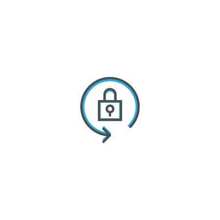 Locked icon design. Essential icon vector illustration design