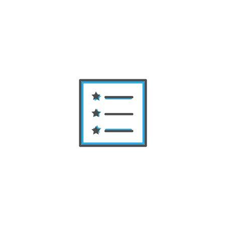 List icon design. Essential icon vector illustration design