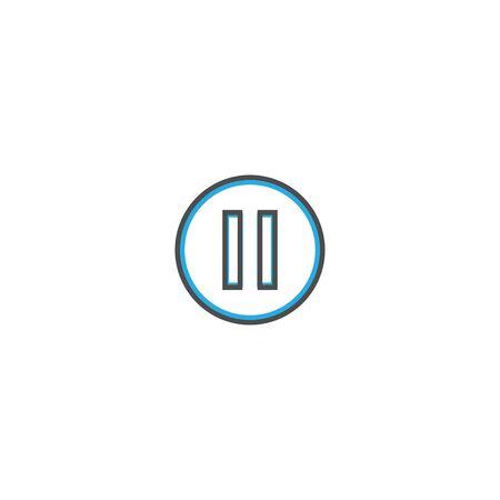 Pause icon design. Essential icon vector illustration design