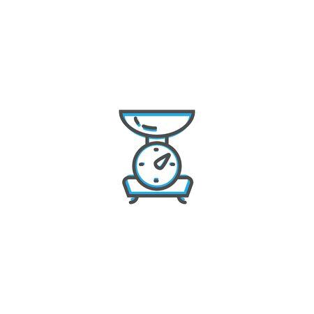 Scale icon design. Gastronomy icon vector illustration design