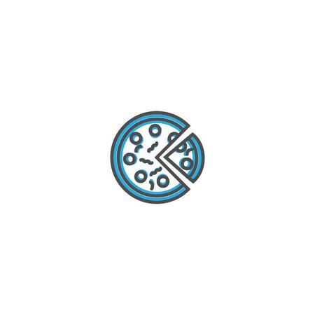 Pizza icon design. Gastronomy icon vector illustration design Фото со стока - 128894169