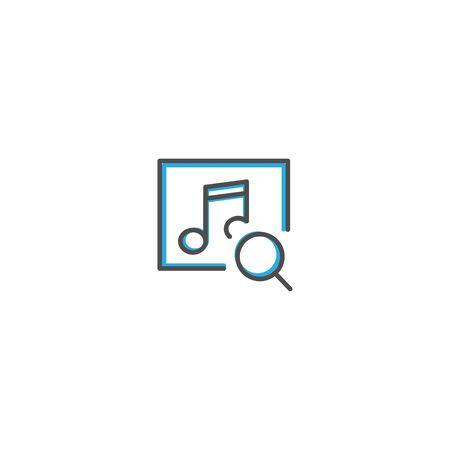 Music Player icon design. Interaction icon line vector illustration design