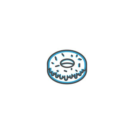 Doughnut icon design. Gastronomy icon vector illustration design