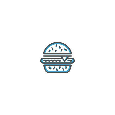 Hamburger icon design. Gastronomy icon vector illustration design