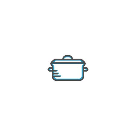 Pot icon design. Gastronomy icon vector illustration design