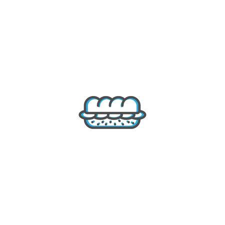 Sandwich icon design. Gastronomy icon vector illustration design