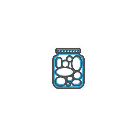 Pickles icon design. Gastronomy icon vector illustration design Çizim