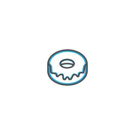 Doughnut icon design. Gastronomy icon vector illustration design