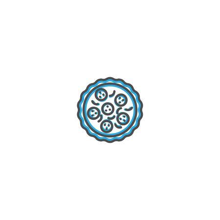 Pizza icon design. Gastronomy icon vector illustration design Фото со стока - 128895322