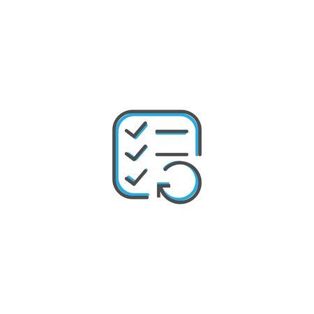 List icon design. Interaction icon line vector illustration design Ilustração