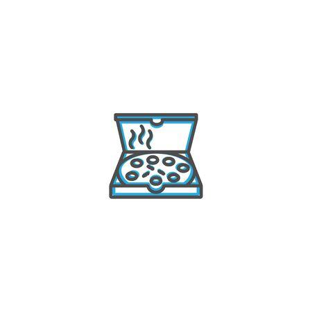Pizza icon design. Gastronomy icon vector illustration design Фото со стока - 128895402