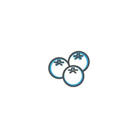 Blueberries icon design. Gastronomy icon vector illustration design Vettoriali