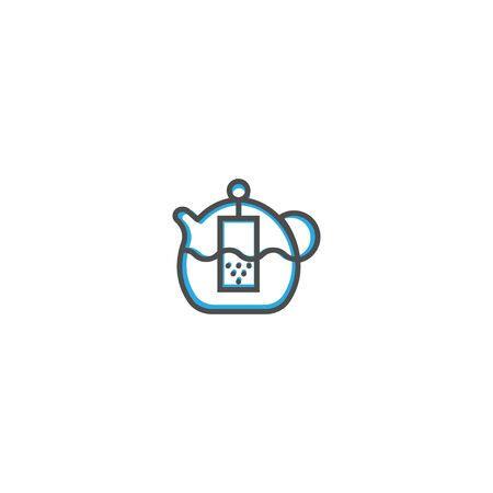 Teapot icon design. Gastronomy icon vector illustration design