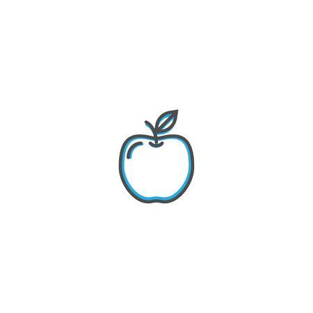 Apple icon design. Gastronomy icon vector illustration design 写真素材 - 128895984