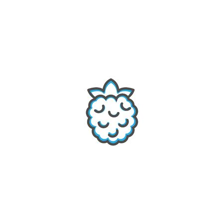 Rasberry icon design. Gastronomy icon vector illustration design 写真素材 - 128896185
