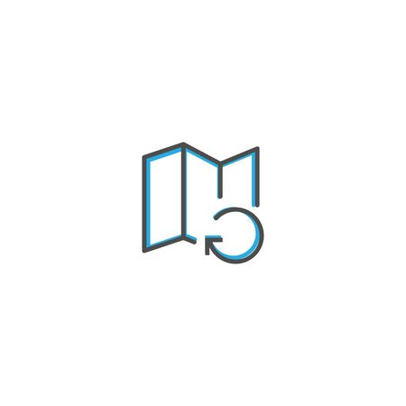 Map icon design. Interaction icon line vector illustration design