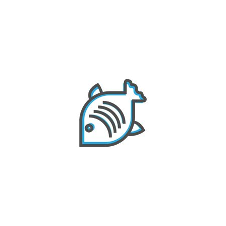 Fish icon design. Gastronomy icon vector illustration design  イラスト・ベクター素材